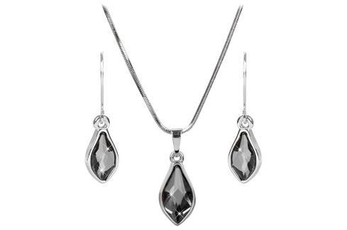 Troli Sada náušnic a náhrdelníku Flame Silver Night Soupravy šperků