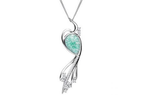 Preciosa Elegantní náhrdelník Ines Matrix Tyrkys 6109 24 (řetízek, přívěsek) Náhrdelníky